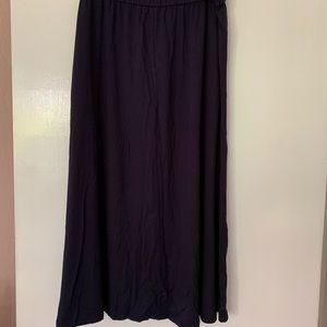 Eileen Fisher Long Navy Blue Front Tie Skirt